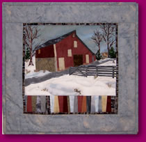 Quilted Image of Glen Burnie Barn