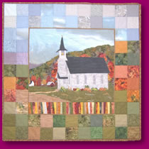Quilted Country Church Image