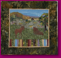 Indian Summer Scene Quilted Wall Hanging Art