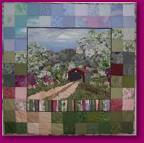 Old Covered Bridge Fabric Art