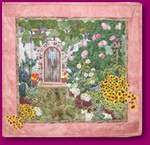Quilted Scene of a Secret Garden