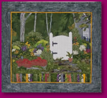 The Garden Gate Fabric Art Quilting Textiles