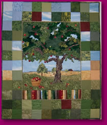 The Old Apple Tree Fabric Art Wall Hanging Quilt
