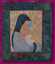Mary Portrayed in Quilted Art Image